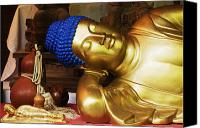 Miyajima Canvas Prints - Reclining Buddha Statue Canvas Print by Jeremy Woodhouse