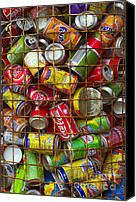 Stack Canvas Prints - Recycling cans Canvas Print by Carlos Caetano