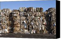 Garbage Canvas Prints - Recycling Facility Canvas Print by Paul Edmondson