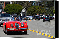 British Car Canvas Prints - Red 1952 Jaguar XK120 . 7d15939 Canvas Print by Wingsdomain Art and Photography