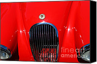 British Cars Canvas Prints - Red 1952 Jaguar XK120 . 7d15951 Canvas Print by Wingsdomain Art and Photography