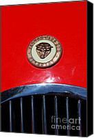 British Cars Canvas Prints - Red 1952 Jaguar XK120 . 7d15952 Canvas Print by Wingsdomain Art and Photography