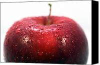 Red Apple Canvas Prints - Red Apple Top Canvas Print by John Rizzuto