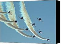 Saudi Canvas Prints - Red Arrows - 2 Canvas Print by Graham Taylor