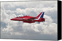 Raf Canvas Prints - Red Arrows - Hawk Canvas Print by Pat Speirs