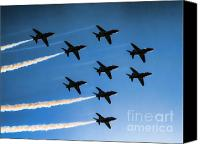 Aircraft Poster Photo Canvas Prints - Red Arrows Canvas Print by Graham Taylor