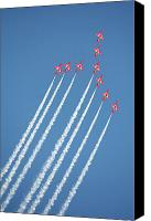 Raf Canvas Prints - Red Arrows in action Canvas Print by Paul Cowan