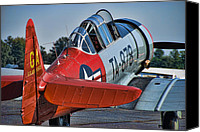 Warbird Photo Canvas Prints - Red AT-6 Canvas Print by Steven Richardson