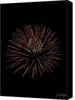 4th July Digital Art Canvas Prints - Red Ball Canvas Print by Phill  Doherty