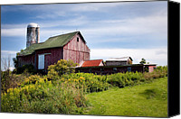 Country Scenes Canvas Prints - Red barn in Groton Canvas Print by Gary Heller