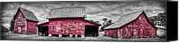 Windsor Canvas Prints - Red Barns at Windsor Castle Canvas Print by Williams-Cairns Photography LLC