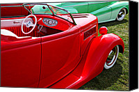 Ford Hot Rod Canvas Prints - Red beautiful car Canvas Print by Garry Gay