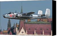 Hungary Canvas Prints - Red Bull North American B-25j Mitchell Canvas Print by Anton Balakchiev
