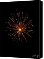 4th July Digital Art Canvas Prints - Red Burst Canvas Print by Phill  Doherty