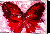 Reproduction Canvas Prints - Red Butterfly Canvas Print by Patricia Awapara
