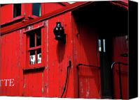 Huckleberry Canvas Prints - Red Caboose Canvas Print by Scott Hovind