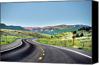 Guidance Canvas Prints - Red Canyon Seen From Highway Canvas Print by Utah-based Photographer Ryan Houston