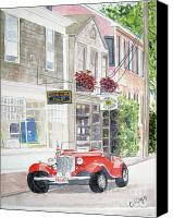 Flagg Canvas Prints - Red Car Canvas Print by Carol Flagg
