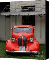 Fire Escape Photo Canvas Prints - Red Car Canvas Print by Perry Webster