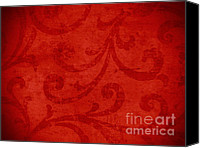 Background Tapestries - Textiles Canvas Prints - Red crispy oriental style decor for fine design. Canvas Print by Marta Mirecka