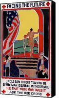 Amputee Canvas Prints - Red Cross Poster, 1919 Canvas Print by Granger