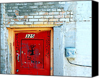 Bathrooms Canvas Prints - Red Door 325  Canvas Print by Steven Milner