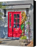 Red Door Canvas Prints - Red Door at Night -- Sailors Delight Canvas Print by David Bearden