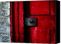 Red Door Canvas Prints - Red Door Canvas Print by Steven  Michael