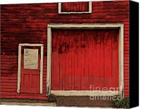 Old Wood Building Canvas Prints - Red Doors Canvas Print by Perry Webster