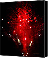 Pyrotechnics Canvas Prints - Red Explosion  Canvas Print by Chris Berry