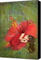 Fantasy Canvas Prints - Red Fairy Dreams I Canvas Print by MiMi  Photography