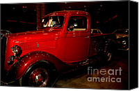 Auction Canvas Prints - Red Ford Truck Canvas Print by Susanne Van Hulst