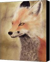 Fox Pastels Canvas Prints - Red Fox Canvas Print by Joanne Giesbrecht