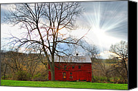 Farm Scenes Canvas Prints - Red Glory Canvas Print by Emily Stauring