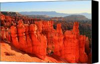 Thor Canvas Prints - Red glow in Bryce Canyon Canvas Print by Pierre Leclerc