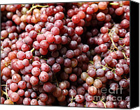 Fruit Markets Canvas Prints - Red Grapes - 5D17066 Canvas Print by Wingsdomain Art and Photography