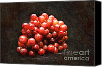 Food And Beverage Canvas Prints - Red Grapes Canvas Print by Andee Photography