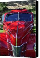 Clayton Canvas Prints - Red Hot Rod Canvas Print by Clayton Bruster