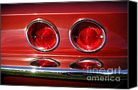 Gleam Canvas Prints - Red Hot Vette Canvas Print by Luke Moore