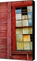 Del Rio Photo Canvas Prints - Red House Canvas Print by Skip Hunt