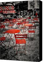 Times Square Digital Art Canvas Prints - Red In My World - New York City Canvas Print by Angie McKenzie