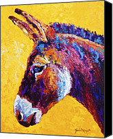 Burro Canvas Prints - Red Jenny Canvas Print by Marion Rose
