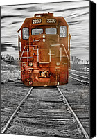 Insogna Canvas Prints - Red Locomotive Canvas Print by James Bo Insogna