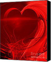 Julia Digital Art Canvas Prints - Red Love . A120423.279 Canvas Print by Wingsdomain Art and Photography