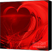Complex Canvas Prints - Red Love . Square . A120423.279 Canvas Print by Wingsdomain Art and Photography