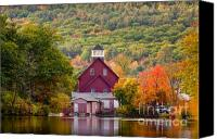 Ashland Canvas Prints - Red Mill in Autumn Canvas Print by Susan Cole Kelly