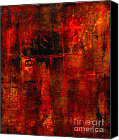 Hot Painting Canvas Prints - Red Odyssey Canvas Print by Pat Saunders-White