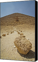 Middle East Canvas Prints - Red Path Of Red Pyramid Canvas Print by © Marc Mateos