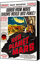 1950s Poster Art Canvas Prints - Red Planet Mars, Top From Left Peter Canvas Print by Everett
