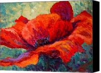 Spring Painting Canvas Prints - Red Poppy III Canvas Print by Marion Rose